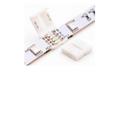 Đầu nối thẳng cho led dây đa sắc (10mm),  4 Pins