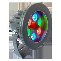 Đèn chiếu điểm 6W đa sắc mẫu B (đa sắc có điều khiển)