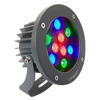 Đèn chiếu điểm 9W đa sắc mẫu B (đa sắc có điều khiển)