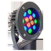 Đèn chiếu điểm 12W đa sắc mẫu B (đa sắc có điều khiển)