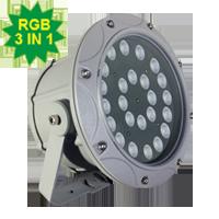 Đèn chiếu điểm 72W đa sắc 3in1 mẫu C (đa sắc có điều khiển)