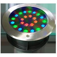 Đèn âm đất tròn 24x1W RGB