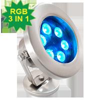 Đèn chiếu nước 18W RGB 3in1 DMX mẫu C (điều khiển DMX512)