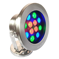 Đèn dưới nước 12w đa sắc mẫu C (đa sắc có điều khiển)